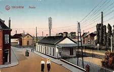 Iseghem, Belgien, Statie, Bahnhof, Postkarte 1916