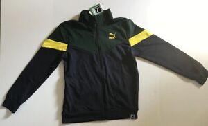 Kids Puma Jacket Navy, Green & Yellow Size L(14-16)