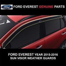 FORD EVEREST 4 DOORS 2015-2016 GENUINE PARTS SUN VISOR DEFLECTOR WEATHER GUARDS