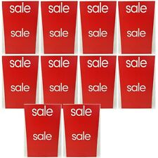 "10 New 11""x18"" Red Sale Sign Lot Double Side Display Retail Thrift Resale Store"