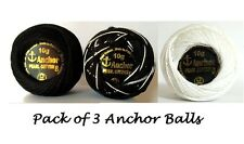 Anchor Pearl Cotton solid thread Balls assorted colors size 8, 85 Mtrs Best deal
