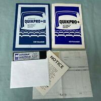 TRS-80 1982 Quikpro II ICR FutureSoft 5.25 Radio Shack Vintage Computer Manual