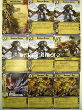 Warhammer 40000 Conquest LCG - Ragnar Blackmane + Squad - The Howl of Blackmane