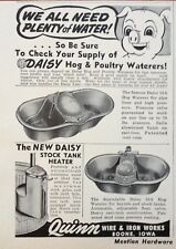 1955 AD(H1)~QUINN WIRE & IRON WORKS, BOONE, IOWA. DAISY HOG & POULTRY WATERERS