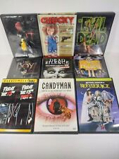 LOT OF 12 HORROR DVDS - EVIL DEAD, IT, BEETLEJUICE, CANDYMAN, CHUCKY COLLECTION