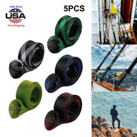 5Pc 170CM Fishing Rod Sock Covers Braided Mesh Spinning Rod Protector Sleeves US