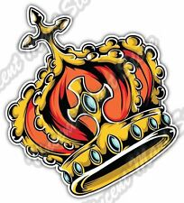 Royal Crown Headgear King Monarch Car Bumper Window Vinyl Sticker Decal 4.6""