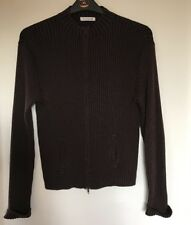 Ladies George Brown Ribbed Cardigan. Size 20