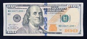 2013 $100 Hundred Dollar Star Note Serial MB30071289*