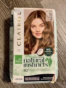 Clairol 6.5G Natural Instincts Demi-Permanent Hair Color Lightest Golden Brown