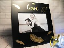 GIRLFRIEND  BOYFRIEND lovers love COUPLE PHOTO FRAME BLACK AND GOLD CONTEMPORARy