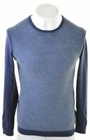 CALVIN KLEIN Mens Crew Neck Jumper Sweater Medium Blue Cotton  IG24