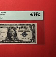 1935H -$1 SILVER CERTIFICATE NOTE,GRADED BY PCGS GEM NEW 66 PPQ