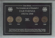 1953-1956 Queen Elizabeth II Farthings Collection Coin Collector Cased Gift Set