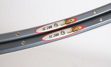 "PAIR OF FIR SC 200 CLINCHER RIMS - GREY - 28"" 28H 458g - 80S 90S - VINTAGE - NOS"