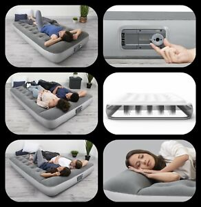 Air Mattress With Built-In AC Pump Inflatable Camping Bed Home Sleeping Airbed
