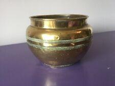Quality Vintage Brass Planter Plant Pot.