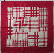 -Superbe foulard BURBERRY  soie   TBEG vintage scarf 86 x 88 cm