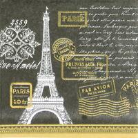 4x Paper Napkins for Decoupage Decopatch Craft Sagen Paris