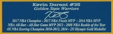 Kevin Durant Autograph Nameplate Golden State Warriors Basketball Photo Jersey