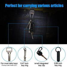 TI-EDC 1.43'' Keychain Carabiner Hook, Quick Release Titanium Spring Snap