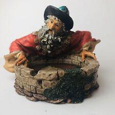 Gazing Wizard Resin Sculpture Figure Reflection Fantasy Dragon Magic 1998 Wui