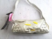 Candice of Los Angeles Small Champagne Purse with Faux Rhinestones Evening Bag