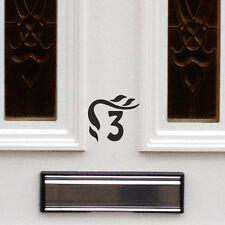 2 X Pegatina/Número de Casa Número Puerta Pegatina/número De Casa Puerta Cartel De Oficina C