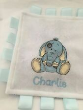 PERSONALISED BABY BLANKET COMFORTER TAGGY ''Old Toy''designs