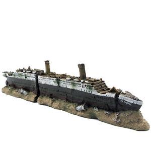 New Titanic Anchor Warship Aquarium Decoration Fish Tank Landscape Decoration