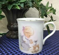 Precious Moments Tea Cup /Coffee Mug- Blessed Are the Merciful 1985