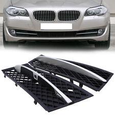 Front Grills Bumper Fog Lights Cover Lamp Frame Trim For BMW 5 Series F10 F11