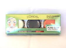 L'Oreal paris Multi-Masking Play Kit Pure Clay Mini Masks 3 x 10ml