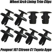 8x Clips For AYGO C1 107 FRONT WHEEL ARCH INNER LINER MUD SPLASHGUARD WING TRIM