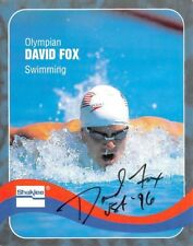 Shaklee Olympic Autograph Card Gold US Swimming Relay David Fox