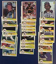 (24) 1982 Donruss Autograph Signed Baseball Lot w/ Tony LaRussa