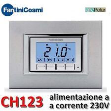 NUOVO TERMOSTATO AMBIENTE INCASSO FANTINI COSMI CH123 ALIMENTAZIONE CORRENTE 230