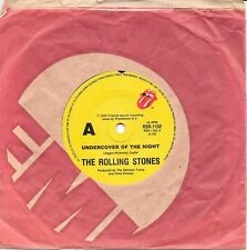 "THE ROLLING STONES - UNDERCOVER OF THE NIGHT - 7"" 45 VINYL RECORD - 1983"