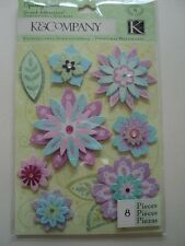 K & CO SPARKLY SWEET BLOSSOM GRAND ADHESIONS STICKERS BNIP