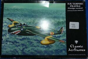 1/48 Classic Airframes DH Vampire - OOP, Rare RAAF - 2 decal choices!