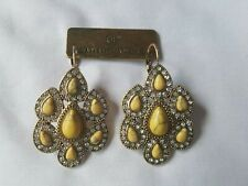 Brand New Samantha Wills Yellow Bohemian Bardot and Crystal Earrings with Pouch