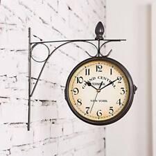 Wanduhr Doppelseitige Bahnhofsuhr Zimmer Küchenuhr Zweiseitig Uhr Antik Quarz