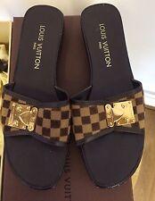Louis Vuitton WOMEN'S SHOES MOCASSINI Muli Sauvage Punta Aperta Zoccoli Oro Taglia 4