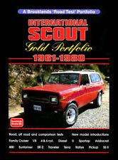 INTERNATIONAL SCOUT BOOK PORTFOLIO GOLD TERRA 800 4x4 4WD RALLYE DIESEL PICKUP