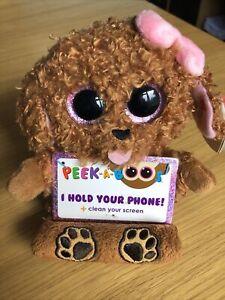 Ty Peek A Boo Mobile Phone Holder - Zelda The Dog, Brand New Item