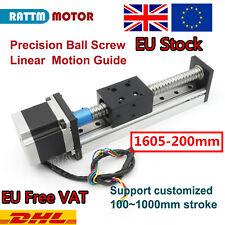 【EU Ship】 1605 Slide Stroke 200mm Linear Precision Ball Screw +Stepper Motor CNC