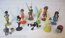 DISNEY TINKER BELL FAIRIES 12 PC Figure Play Toy Set Cake Topper Clarion Terence