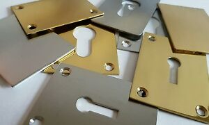 ESCUTCHEON REPAIR PLATE - 45 x 65MM - EASY FIT! FITS MORTICE PROFILE CYLINDERS