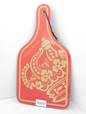 Wine Bottle Shaped 14 Inch Glass Cheese Board Red Stella Rosa Gourmet Cutting