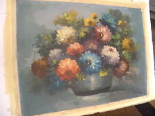 oil painting Oscar T. Navarro Still Life Original 1973